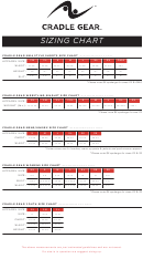 Cradle Gear Sizing Chart