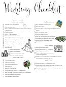 Wedding Checklist - 1 Year Before Your Wedding