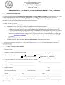Form Ls 553 - Application Form For A Certificate Of Eligibility