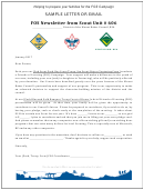 Fos Campaign Sample Letter Or Email - District Of The Mount Baker Council, Bsa