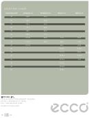 Ecco Adult Shoe Size Chart