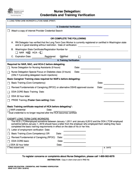 Nurse Delegation: Credentials And Training Verification