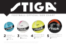 Stiga Football Official Size Chart