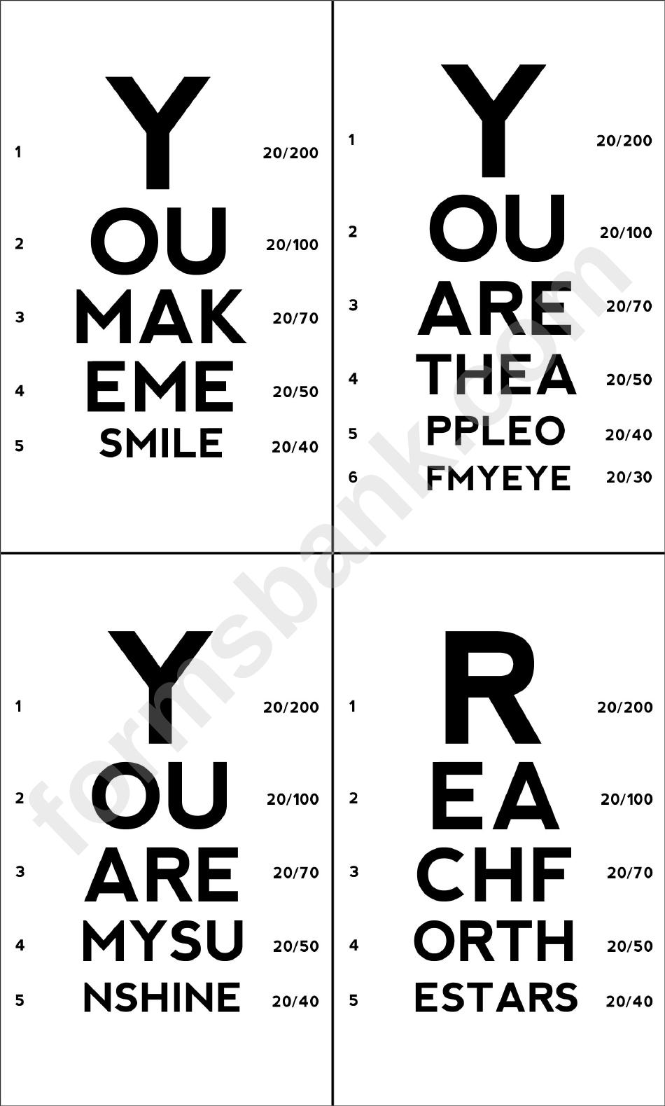 Eye Chart Card Template Printable Pdf Download