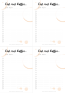To Do List Template (german)