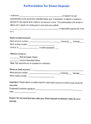 Direct Deposit Authorization(intuit)