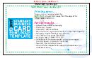 Standard Business Card Template -