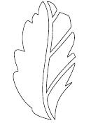 Leaf Stencil Template