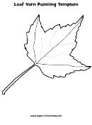 Leaf Yarn Painting Template