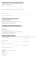 Consent Letter Template For Minors Travelling Abroad