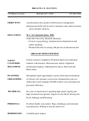 Sample Resume Template With Areas Of Effectiveness