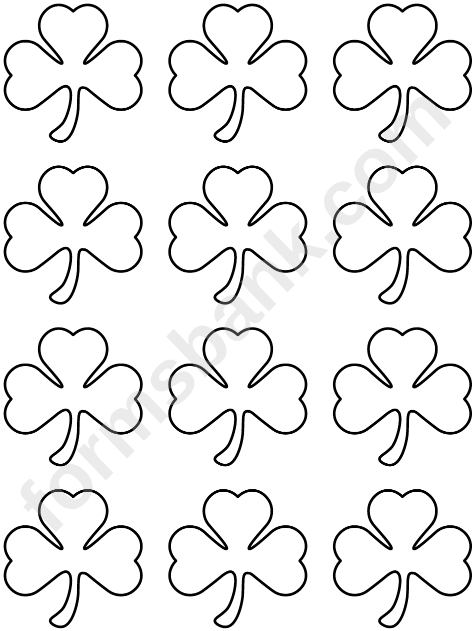 Small Shamrock Pattern Template Printable Pdf Download