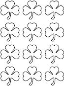 Small Shamrock Pattern Template