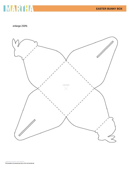 Easter Bunny Box Template Printable pdf