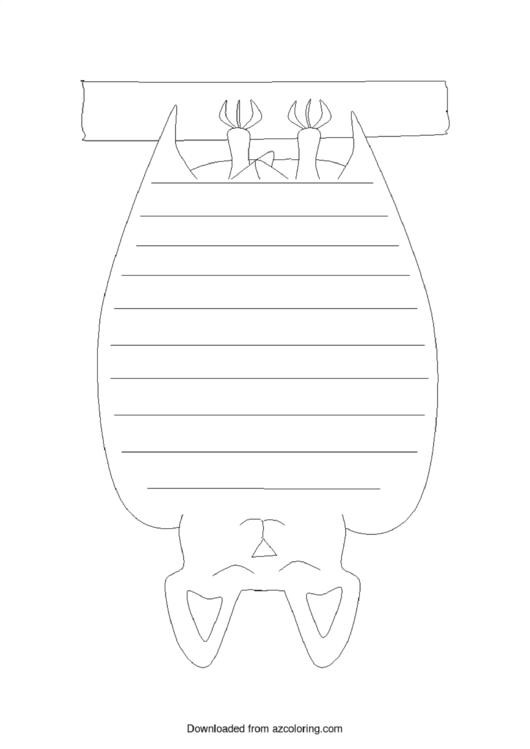 Sleeping Bat Template Printable pdf