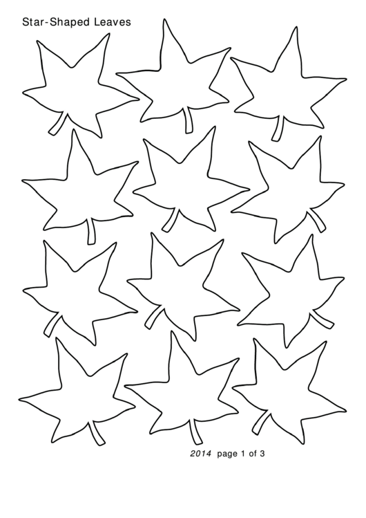 Star-shaped Leaves