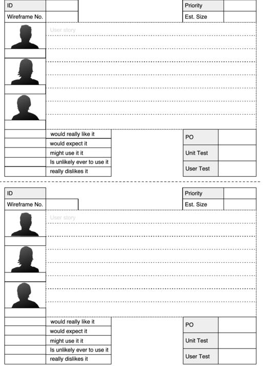 user story template printable pdf download. Black Bedroom Furniture Sets. Home Design Ideas