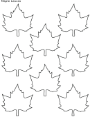 Maple Leaves Template