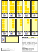 Numbers Worksheet Template - Yellow Cube