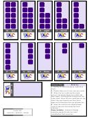 Numbers Worksheet Template - Purple Cube