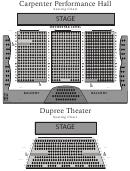Carpenter Performance Hall Seating Chart