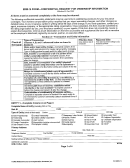 Erm 14 Form - Confidential Request For Ownership Information