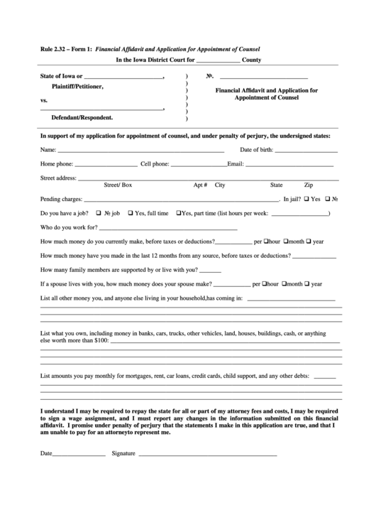 22 Iowa Court Forms And Templates free to download in PDF, Word ...