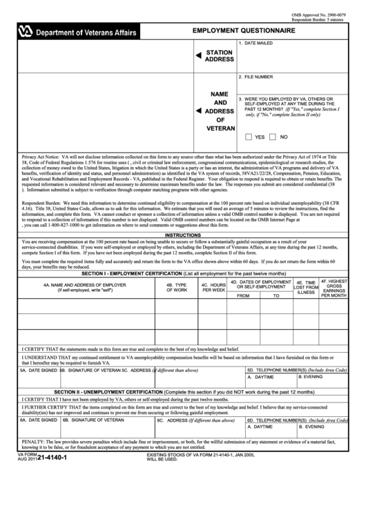 Top Va Form 21-4140 Templates free to download in PDF, Word and ...