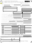 Form St - Sales, Use, And Gross Receipts Tax - North Dakota Tax Commissioner