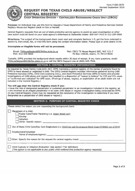 form f 500 2970 request for texas child abuse neglect central