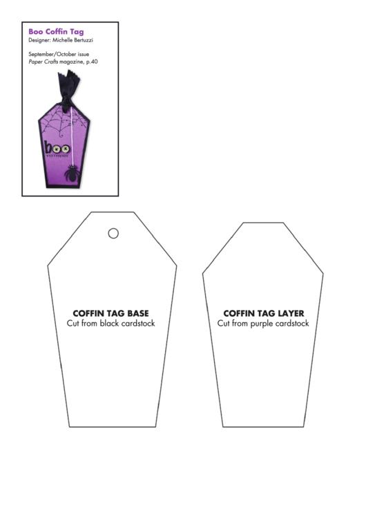Boo Coffin Tag