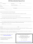 Crsc Reconsideration Request Form - Crsc Form 12e