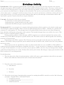 Mutations Activity Biology Worksheets
