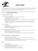 Sample Cover Letter Outline