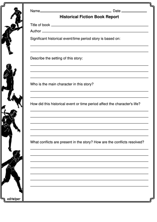 Historical Fiction Book Report Template