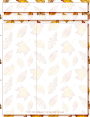 Scrapbook Leaves Layout Template