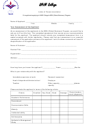Recommendation Letter Form