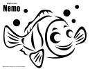 Nemo Coloring Sheet