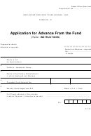 Form No. 31 - Application For Advance From The Fund With Instructions