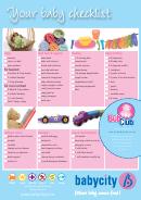Baby Checklist Template