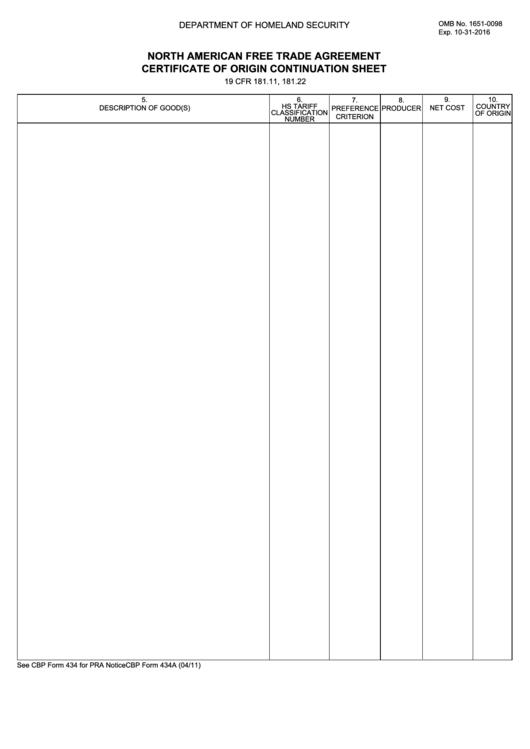 Nafta Form Certificate Template Mandegarfo
