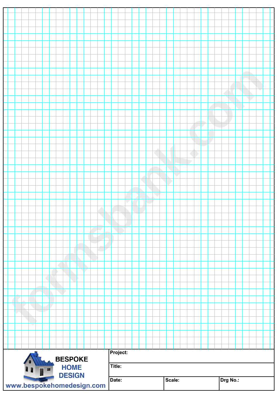A4 Graph Paper (Blue On White)