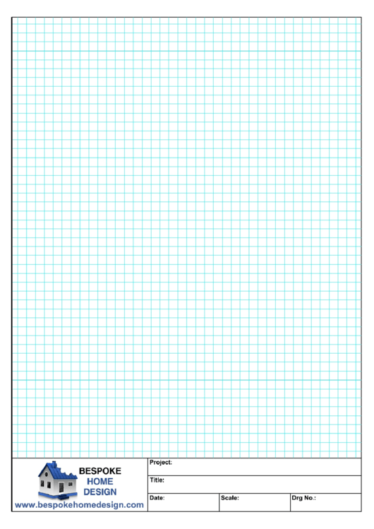 A4 Graph Paper (Blue On White) Printable pdf