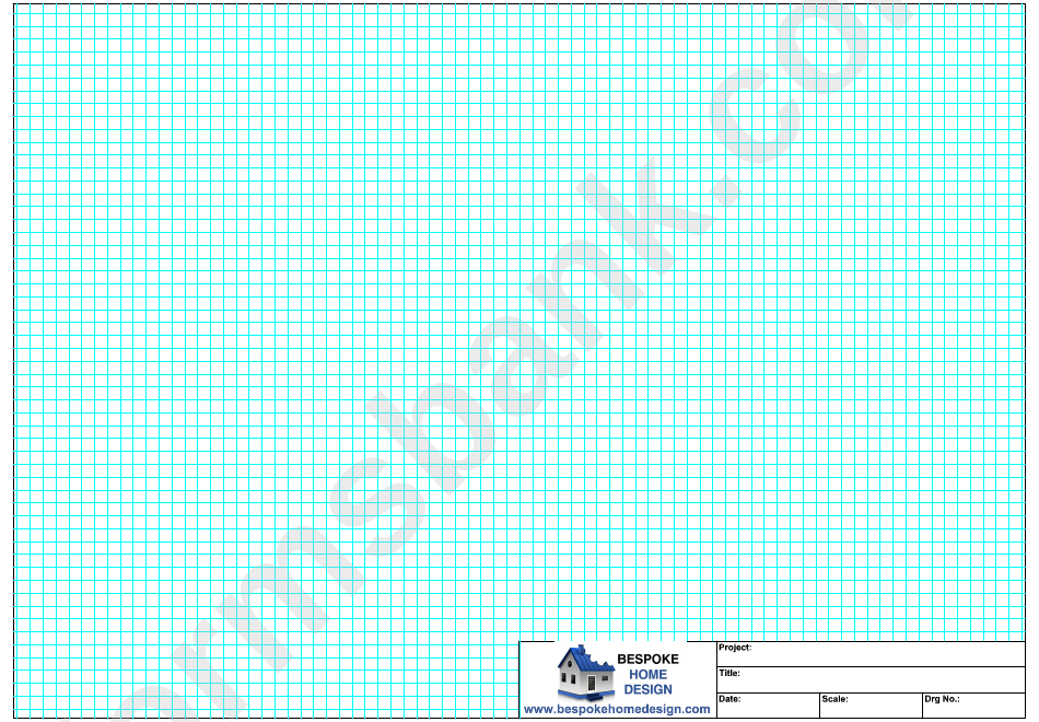 A3 Graph Paper (Blue On White)