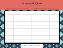 Weekly Homework Chart Template