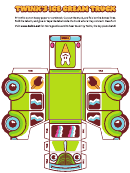 Foldable Ice Cream Truck Template