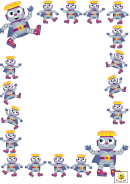 Robot Page Border Template