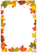 Autumn Leaves Page Border Template