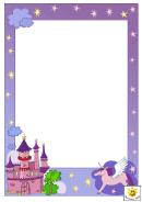 Fantasy Castle Page Border Templates