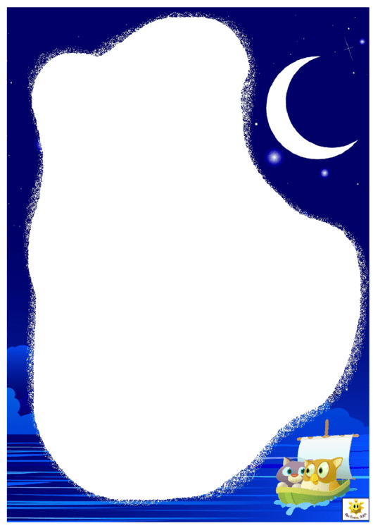 Night Page Border Templates Printable pdf